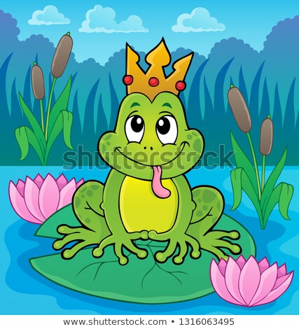 Foto d'archivio: Frog With Crown Theme Image 4