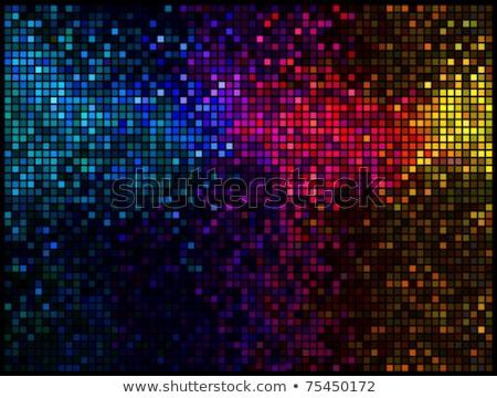 Rood · abstract · lichten · disco · vierkante - stockfoto © essl