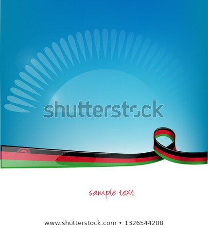 malawi ribbon flag on blue sky background Stock photo © doomko
