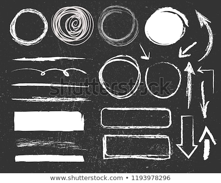 vector set of blackboard and chalk stock photo © olllikeballoon