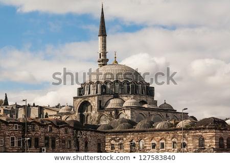 moskee · istanbul · beroemd · groot · ingericht - stockfoto © borisb17