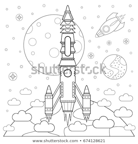 Space theme with astronauts working on the moon Stock photo © colematt