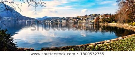 Tó Svájc kilátás víz természet tájkép Stock fotó © borisb17