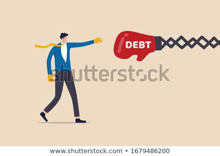 huge boxing gloves punches businessman concept stock photo © ra2studio