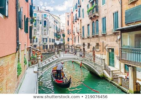 狭い 運河 ヴェネツィア イタリア 歴史的 建物 ストックフォト © AndreyPopov