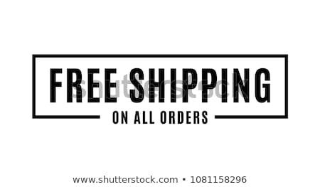 ücretsiz gönderim 3d illustration yalıtılmış beyaz teknoloji alışveriş Stok fotoğraf © montego