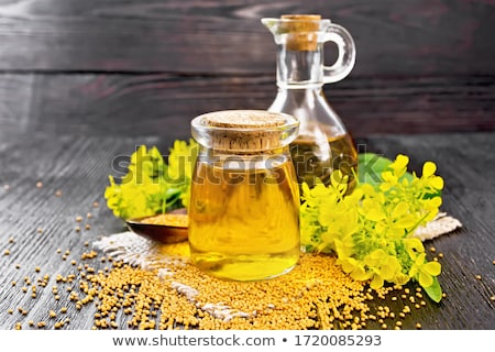 Gouden mosterd olie fles voedsel natuur Stockfoto © bdspn