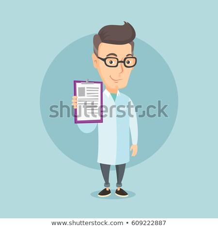 Lekarza recepta pacjenta szpitala muzyka Zdjęcia stock © dolgachov