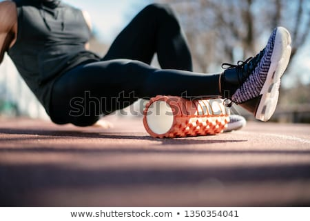 осуществлять девушки ногу улыбка книга школы Сток-фото © Lopolo