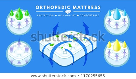 Orthopedische matras element vector icon Stockfoto © pikepicture