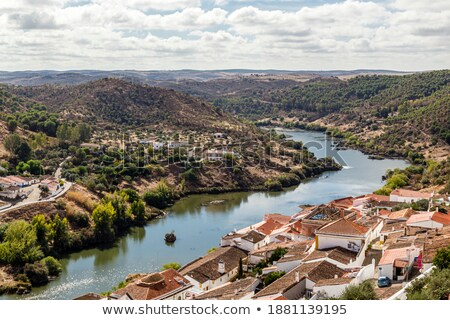 Landscape of Mertola and Guadiana river. Stock photo © inaquim