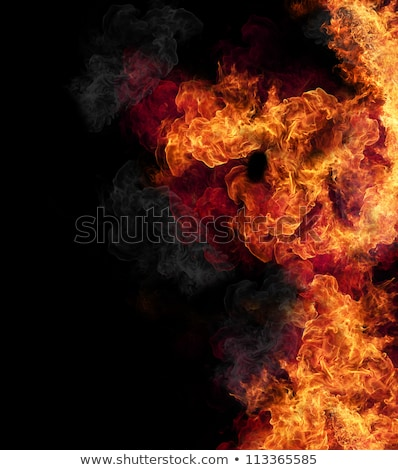 close up of fire and flames on a black background stock photo © fesus