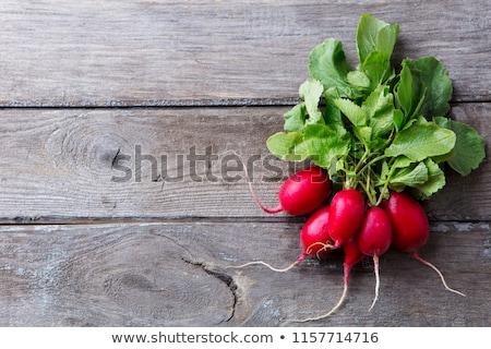 Vers radijs wortels houten exemplaar ruimte Stockfoto © dariazu
