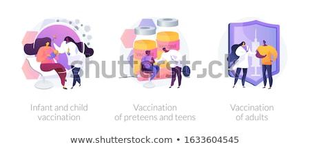 Enfant vaccination pédiatrie garde d'enfants médecin Photo stock © RAStudio