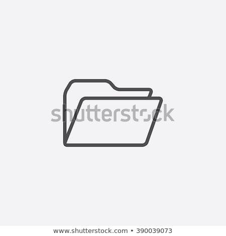 Zdjęcia stock: Informacji · folderze · ikona · wektora · ilustracja