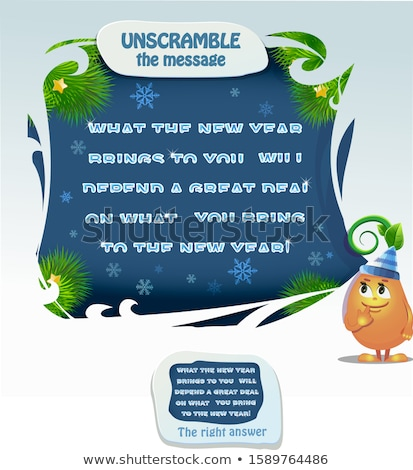 new year unscramble the message  Stock photo © Olena