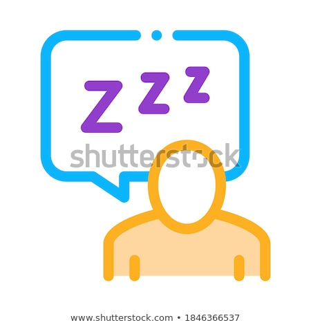 Human Zzz In Quote Frame Icon Outline Illustration Stock photo © pikepicture