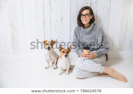 красивой брюнетка женщину полу два любимый Сток-фото © vkstudio