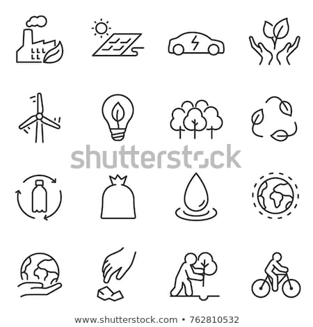 restoration of nature icon vector outline illustration Stock photo © pikepicture