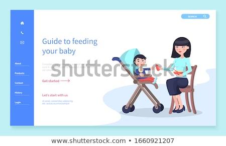 Begeleiden baby moeder zorg zoon Stockfoto © robuart
