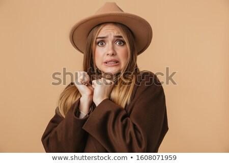 изображение молодые страшно девушки Hat Сток-фото © deandrobot