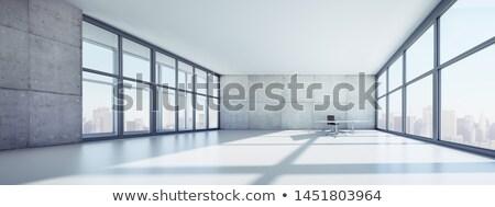 Modern apartment building with floor-to-ceiling windows Stock photo © elxeneize