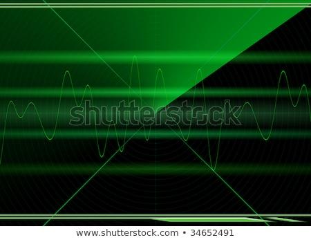 Abstract militari radar display aerei target Foto d'archivio © evgeny89