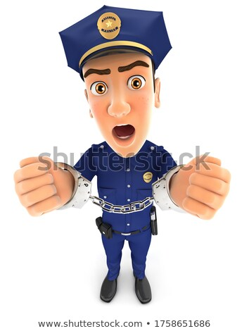 3d policeman under arrest and handcuffed Stock photo © 3dmask