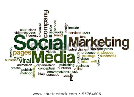 Social media blogging wektora metafora online promocji Zdjęcia stock © RAStudio
