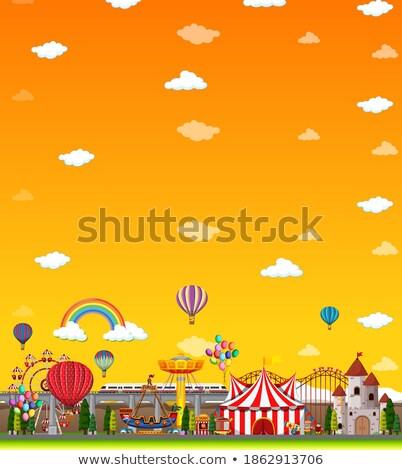 遊園地 シーン 黄色 空 実例 ストックフォト © bluering