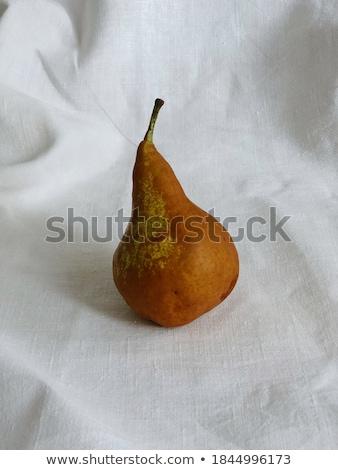 オーガニック 梨 素朴な リネン 果物 ストックフォト © Anneleven