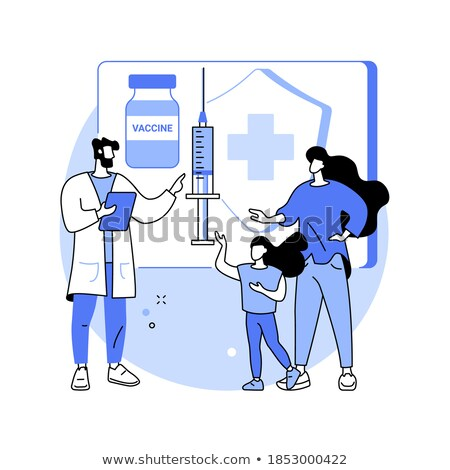 Immunizálás oktatás absztrakt információ oktat szülők Stock fotó © RAStudio