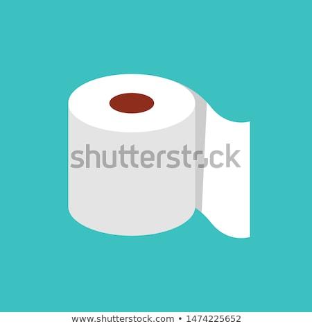 rouler · rose · papier · hygiénique · isolé · blanche · papier - photo stock © dvarg