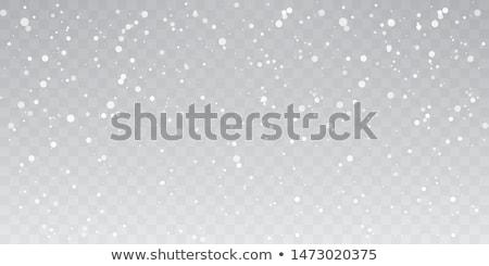 Sneeuwval veel sneeuwvlokken witte glanzend sterren Stockfoto © Onyshchenko