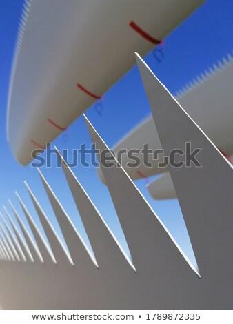 подробность · ветровой · турбины · облака · пейзаж · металл · энергии - Сток-фото © simplefoto