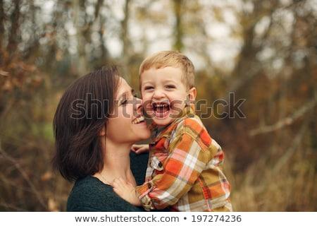 madre · hijo · forestales · otono · cara · hierba - foto stock © Paha_L