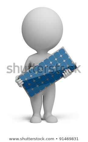 3d small people - solar panel Stock photo © AnatolyM