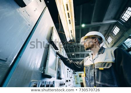 石炭 · 発電所 · 建物 · 技術 · 煙 · 青 - ストックフォト © alexeys