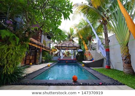 Tropical Gardens Gazebo stock photo © mosnell