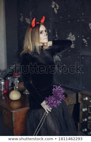 dark blonde girl's bodyart Stock photo © zastavkin