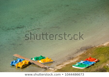 pedal boats on Kournas Sea Stock photo © prill