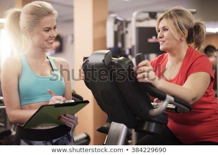 Donna matura personal trainer donna lavoro sport Foto d'archivio © photography33