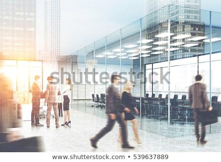 Empresário gráfico de negócio trabalho em equipe negócio azul Foto stock © 4designersart