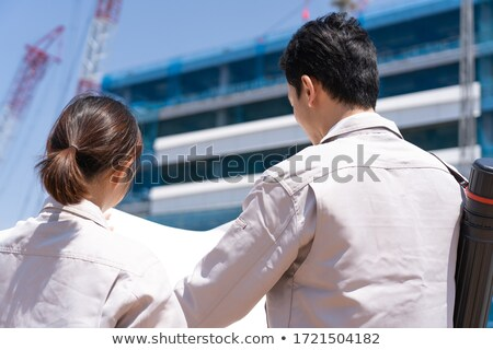 Two electricians working in back office Stock photo © photography33
