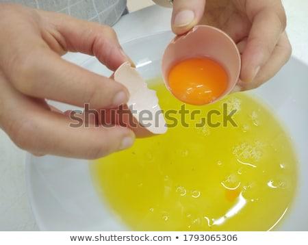 Uovo tuorlo pollo colore cottura Foto d'archivio © zkruger