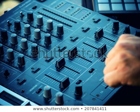 Control knobs on the console of a DJ deck Stock photo © stryjek