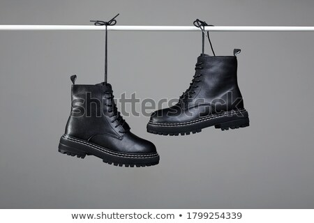 pair of black boots clipping path stock photo © shutswis