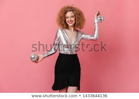 sensueel · dame · poseren · zwarte · jurk · reusachtig · hoed - stockfoto © carlodapino