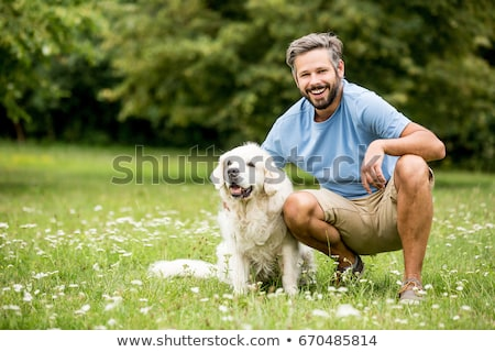 Man with his dog Stock photo © photography33