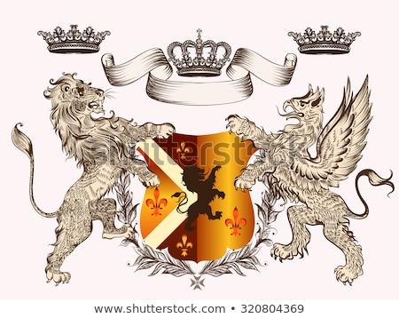 Királyi griffmadár címer terv művészet sziluett Stock fotó © creative_stock